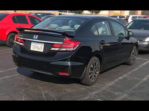 2013 Honda Civic EX sedan Rear Spoiler Install