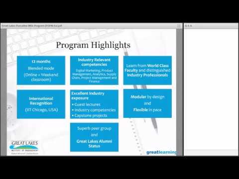 Webinar: Great Lakes Executive MBA Program - PGPM-Ex