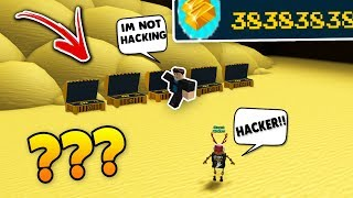 I FOUND A HACKER!!? | Build a boat For Treasure ROBLOX