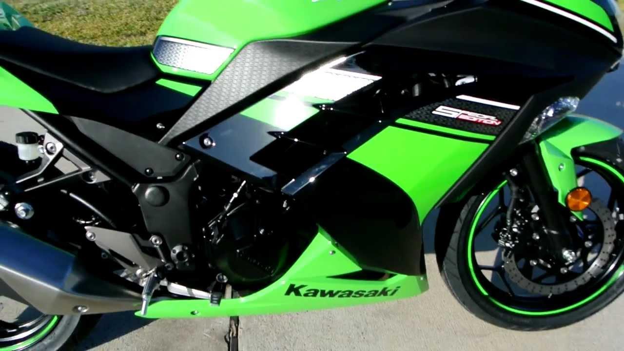 2013 Kawasaki Ninja 300 Black and Green Special Edition  YouTube