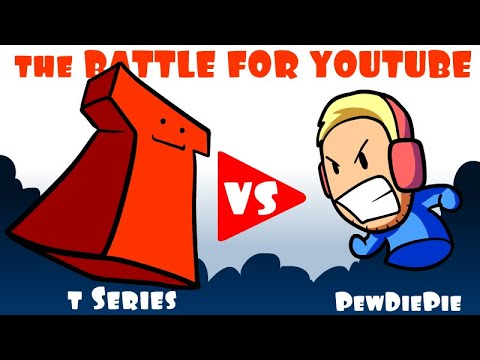 The Battle For Youtube  Pewdiepie Vs T Series  * An Animated Short *