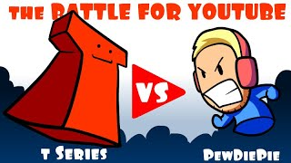 The Battle For YouTube  Pewdiepie vs T Series   An Animated Short