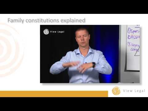 Family constitutions explained by Matthew Burgess