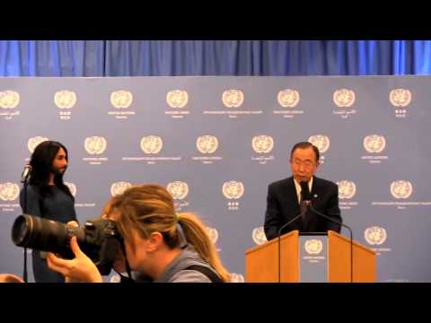 Conchita Wurst meets the UN Secretary-General and performs at the United Nations in Vienna