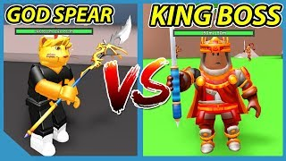Buying the God Only Spear and Fighting the Max Level King Boss! Roblox RPG Simulator