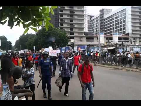 ACCRA DEMONSTRATION - WORKERS UNION AGAINST THE GOVERNMENT
