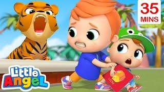 Animals At The Zoo + More Kids Songs | Little Angel Kids Songs & Nursery Rhymes