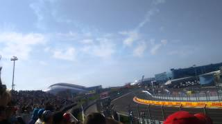 Выступление самолетов. Формула 1 Сочи 2014