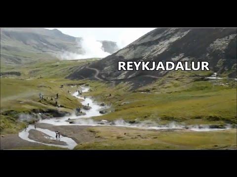 Reykjadalur valley in Iceland
