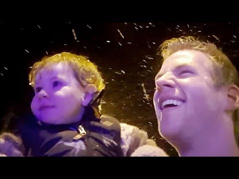 """Mini Jazza's First Time with """"Snow""""  and Fireworks!"""