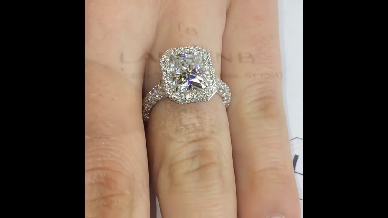 3 carat radiant cut moissanite engagement ring youtube
