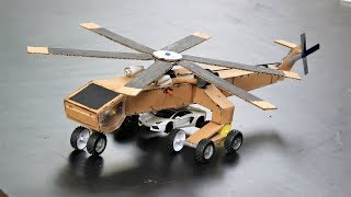 How to make toy helicopter - cardboard helicopter