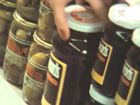 1970s Supermarket Shopping, UK, Food
