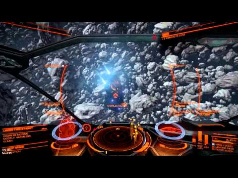 Elite Dangerous 2.05 100kcr/30min bounty hunt in dense ice asteroids