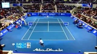 Novak Djokovic vs Jo-Wilfried Tsonga Mubadala World Tennis Championship ABU DHABI 2013 -highlights