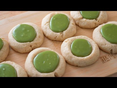 How to Make Matcha (Green Tea) Thumbprint Cookies (Enlightened Matcha)