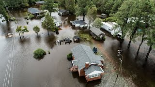 Drone footage of widespread flooding in Kinston, NC after Hurricane Florence thumbnail