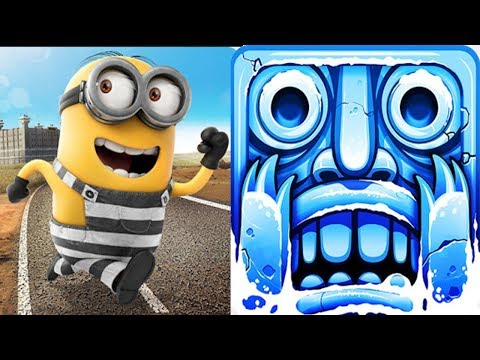 Despicable Me - Minion Rush : Minion Break Vs Temple Run 2 Frozen Festival !