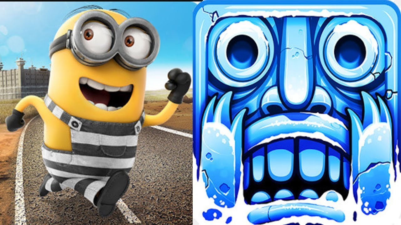 Despicable Me – Minion Rush : Minion Break Vs Temple Run 2 Frozen Festival !
