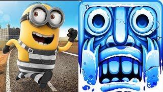 Despicable Me - Minion Rush : Minion Break Vs Temple Run 2 Frozen Festival !