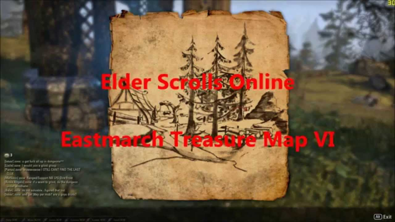 Elder Scrolls Online Eastmarch Treasure Map Vi Youtube