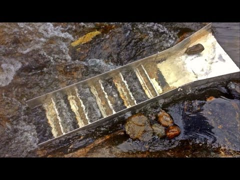 Alluvial Gold Prospecting - Sluicing for Gold in a Big River