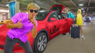 Undercover Uber Prank on Best Friend to Reveal Pond Monster!! (Top Secret Tesla Spy Car)
