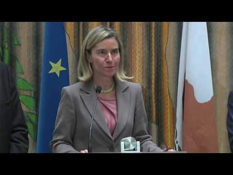 HRVP Mogherini and Commissioner  Stylianides in Press conference Nicosia