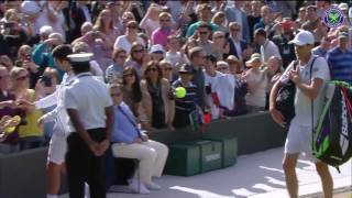 Djokovic signs autographs after Querrey loss