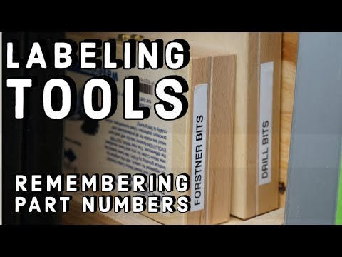 WORKSHOP TIP -Labeling Tools, Parts And Consumable Accessories