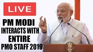 MODI LIVE : PM Modi Interacts With Entire PMO Staff 2019