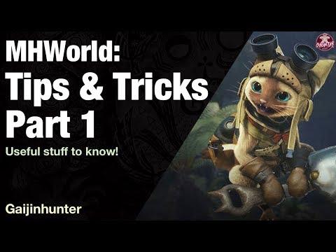 Monster Hunter World: Tips & Tricks Pt. 1 - YouTube