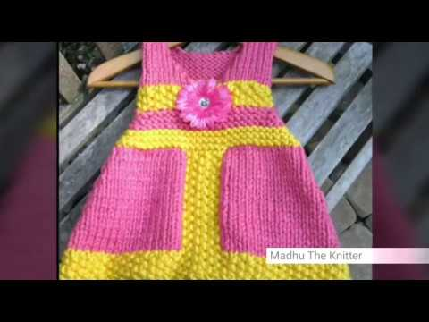 fa2cf3e1c291 Hand knitted woolen frock design for kids in hindi - Madhu The ...