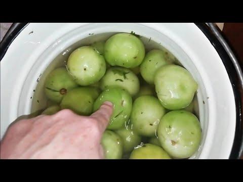 Самый быстрый способ засолки зеленых помидор