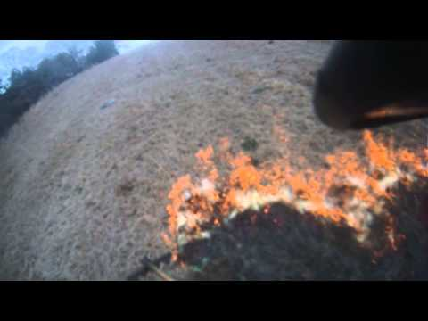 Helmet Cam footage, Pason Road brush fire