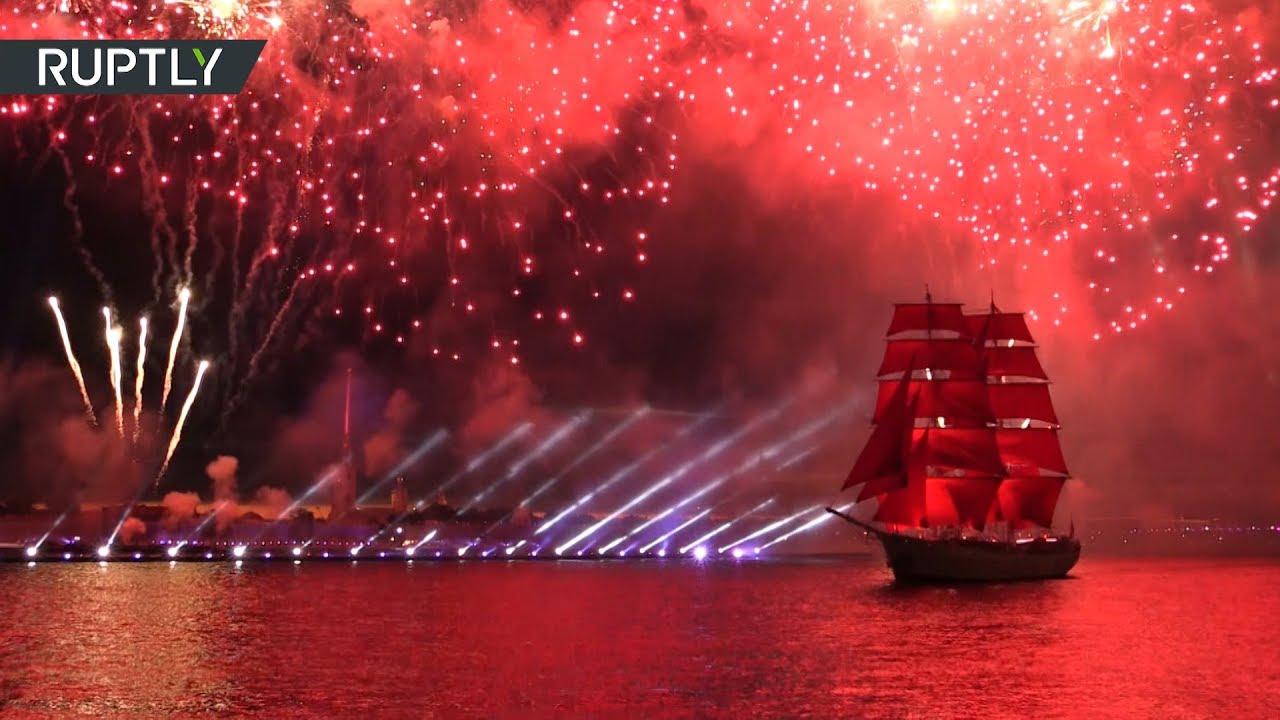 В Петербурге прошёл праздник выпускников «Алые паруса»