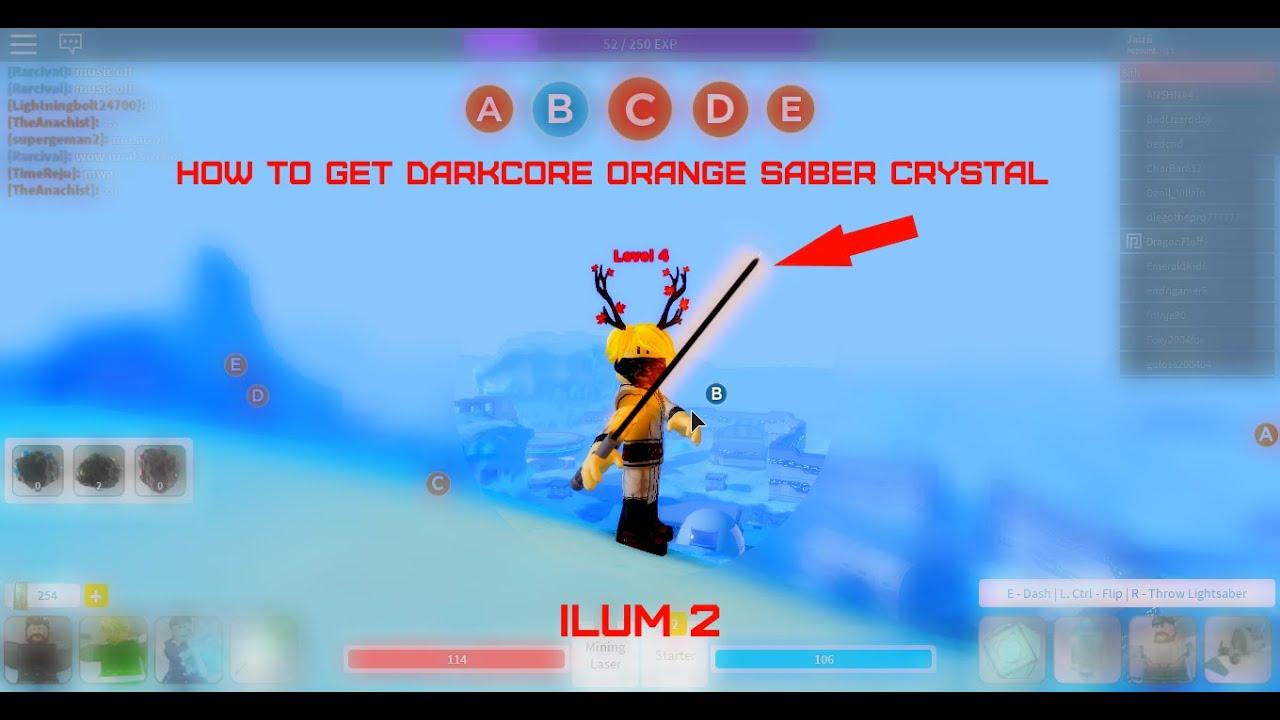 How To Get Darkcore Orange Lightsaber Crystal Ilum 2 Youtube