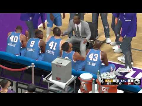 NBA 2K17 Los Angeles Lakers @ Sacramento Kings