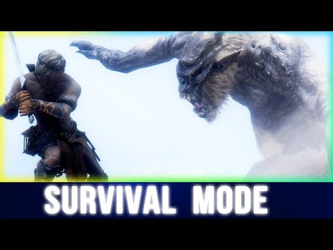 Skyrim Survival Mode CHALLENGE Walkthrough (Mods) [Part 3]