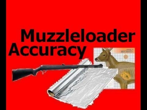 Muzzleloader Accuracy Using Aluminum Foil  - Barrel Size -