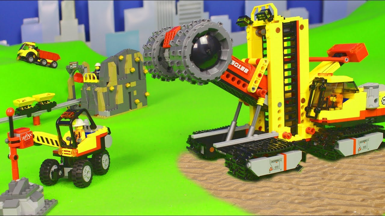 lego city mine bagger lastwagen kran truck. Black Bedroom Furniture Sets. Home Design Ideas