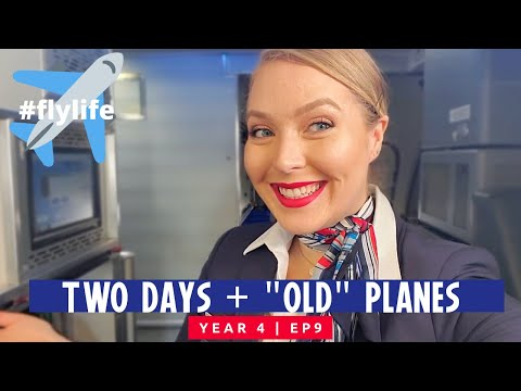 2 Days And Old Planes || Flight Attendant Vlog
