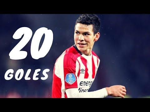Todos los goles del Chucky Lozano con PSV | 2017-2018 | Full HD
