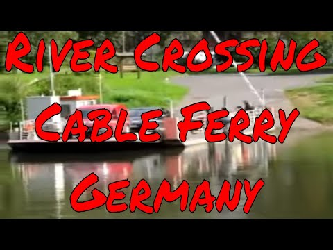 River crossing cable ferry in Germany without a motor using just the river