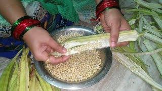 Bhindi seeds Recipe-How to Make Crispy Seeds Okra-Bhindi Seeds Kurkuri-Okra or Bhindi seeds Fry