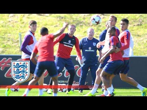 Rooney, Kane, Henderson & England squad at St George's Park   Inside Training