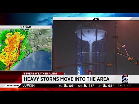 Heavy Storms Move Into Katy