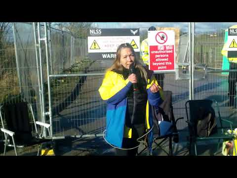Tina Louise Rothery of Lancashire Nanas visits Kirby Misperton Forward Protection Camp