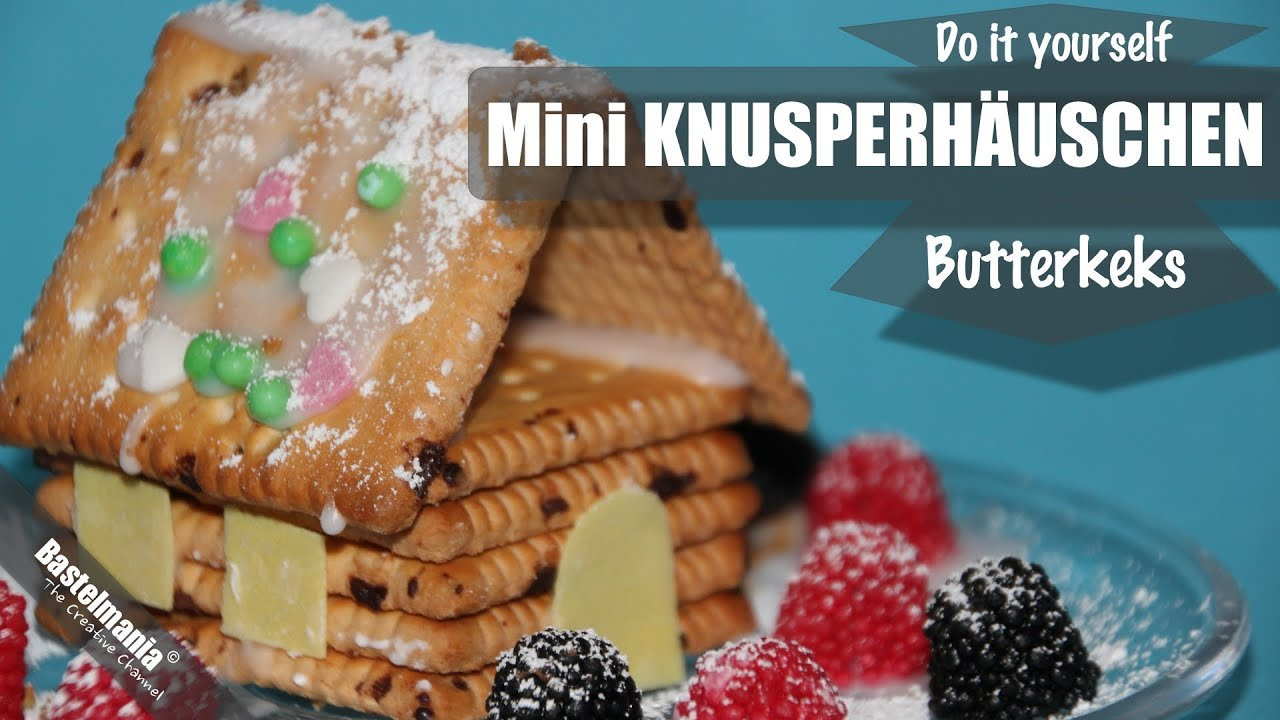 mini knusperh uschen aus butterkeksen gingerbread house youtube. Black Bedroom Furniture Sets. Home Design Ideas