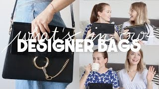 WHAT'S IN OUR DESIGNER BAGS I Chloé Faye & Céline Trio Bag Reviews
